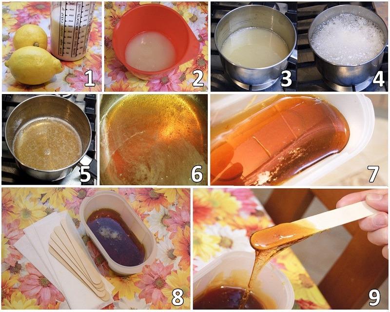 Фото: шугаринг в домашних условиях, правильный рецепт пасты